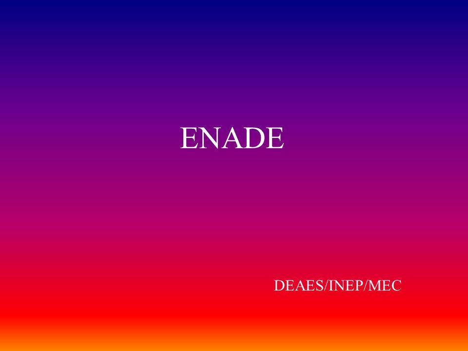 ENADE DEAES/INEP/MEC