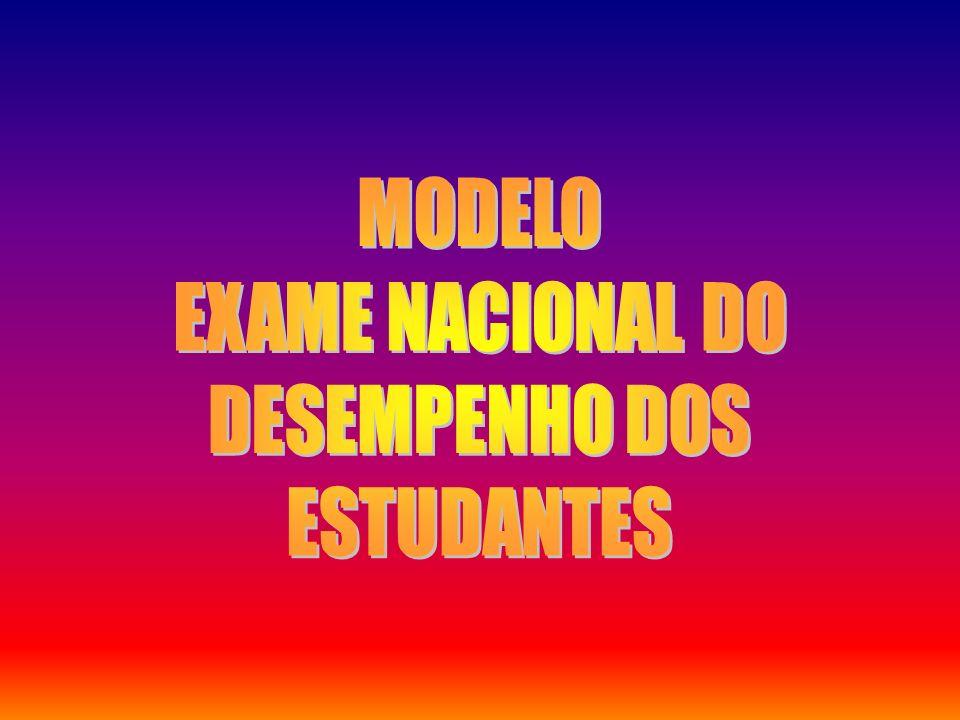 MODELO EXAME NACIONAL DO DESEMPENHO DOS ESTUDANTES