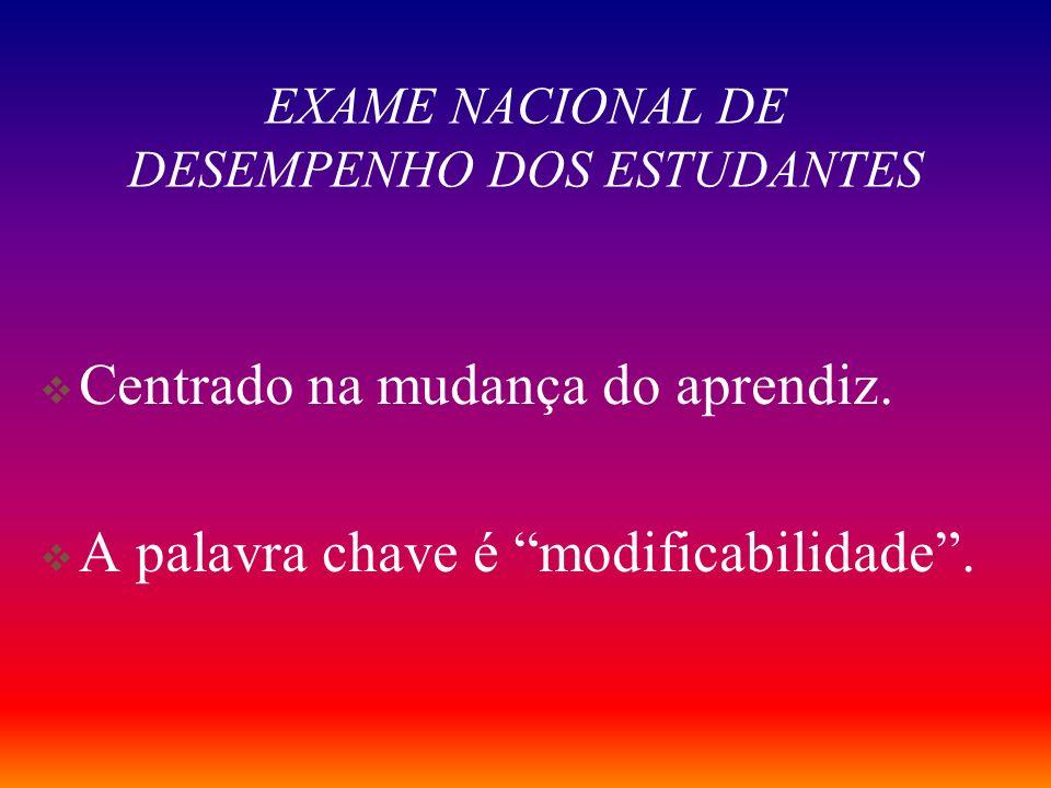 EXAME NACIONAL DE DESEMPENHO DOS ESTUDANTES