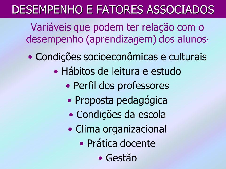 DESEMPENHO E FATORES ASSOCIADOS