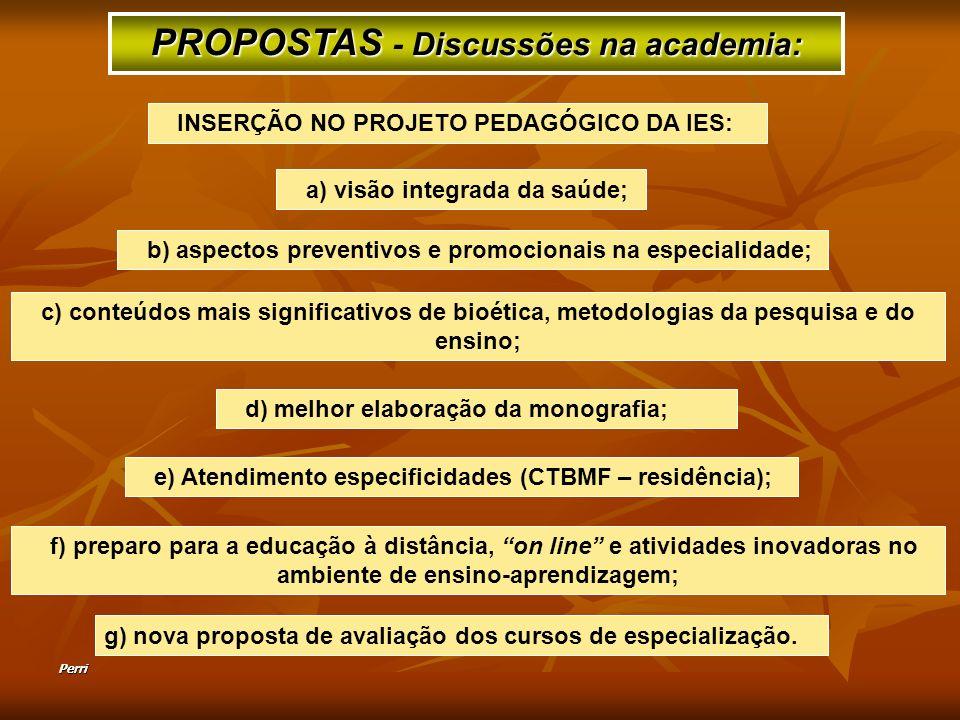 PROPOSTAS - Discussões na academia: