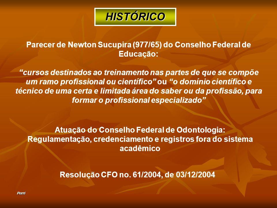 HISTÓRICO Parecer de Newton Sucupira (977/65) do Conselho Federal de Educação: