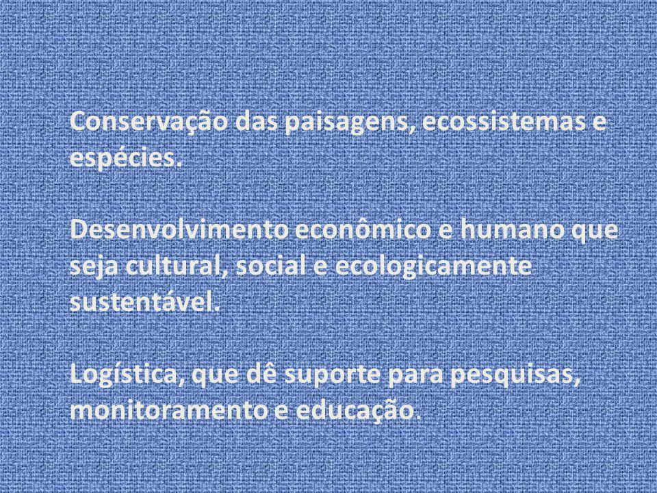Conservação das paisagens, ecossistemas e espécies