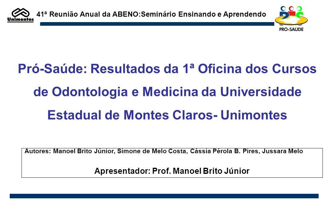 Apresentador: Prof. Manoel Brito Júnior