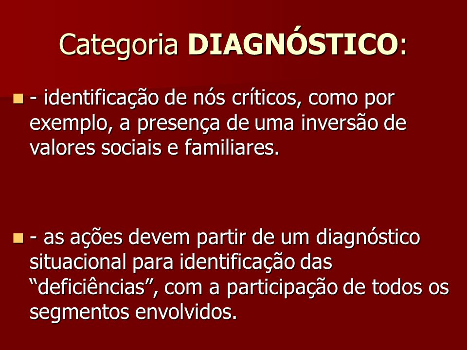 Categoria DIAGNÓSTICO: