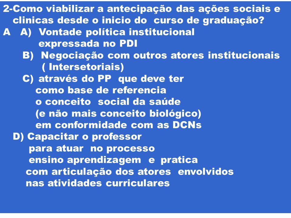 2-Como viabilizar a antecipação das ações sociais e