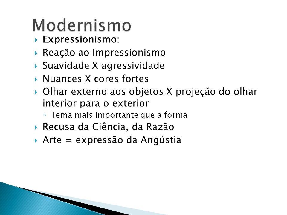 Modernismo Expressionismo: Reação ao Impressionismo
