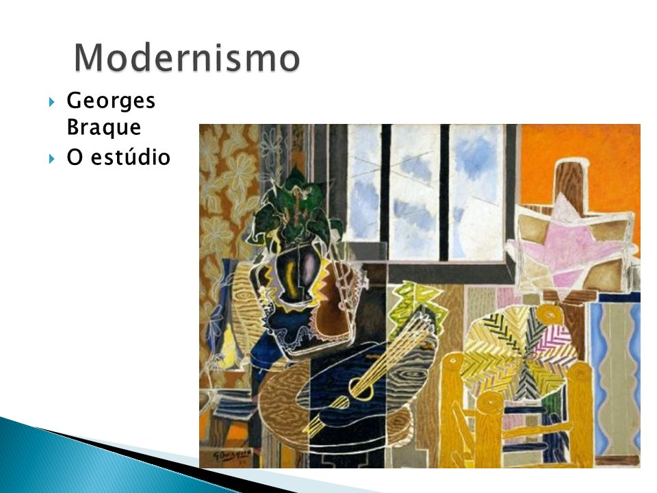Modernismo Georges Braque O estúdio