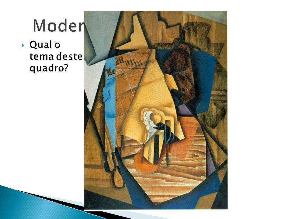 Modernismo Qual o tema deste quadro