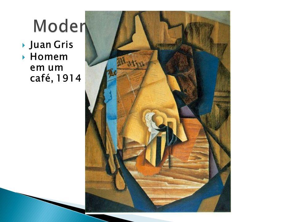 Modernismo Juan Gris Homem em um café, 1914