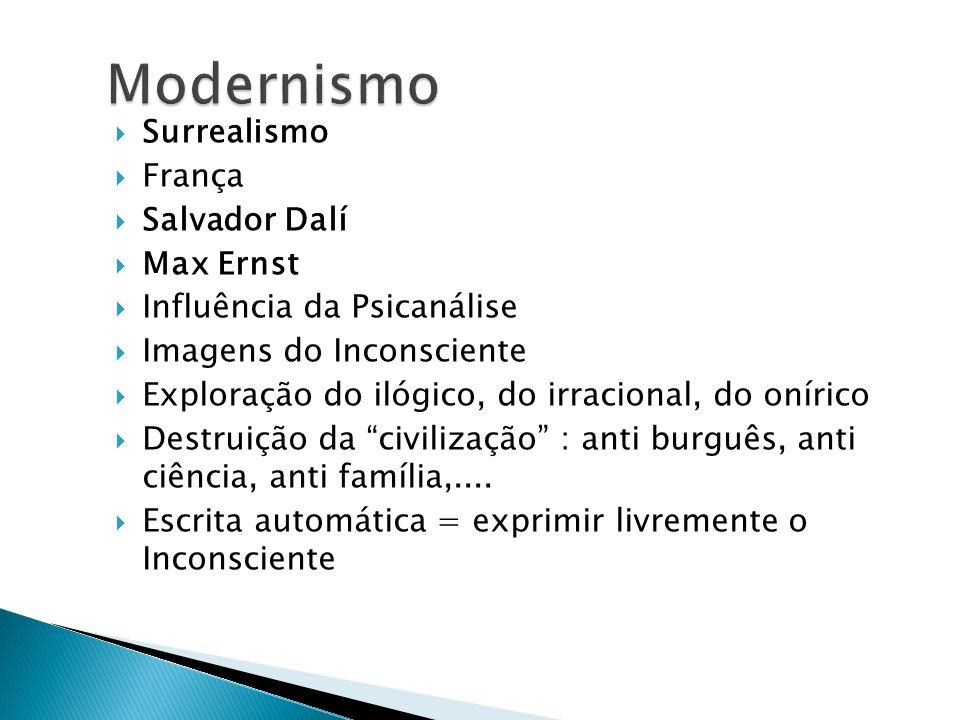 Modernismo Surrealismo França Salvador Dalí Max Ernst