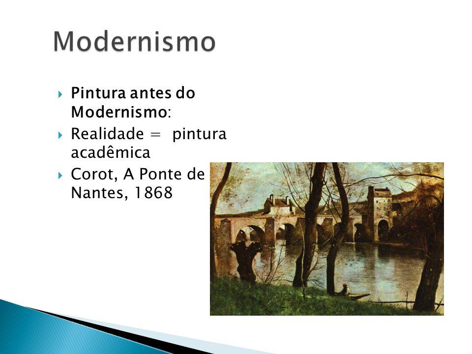 Modernismo Pintura antes do Modernismo: Realidade = pintura acadêmica