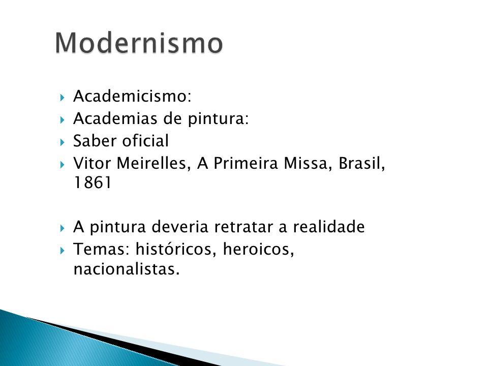 Modernismo Academicismo: Academias de pintura: Saber oficial