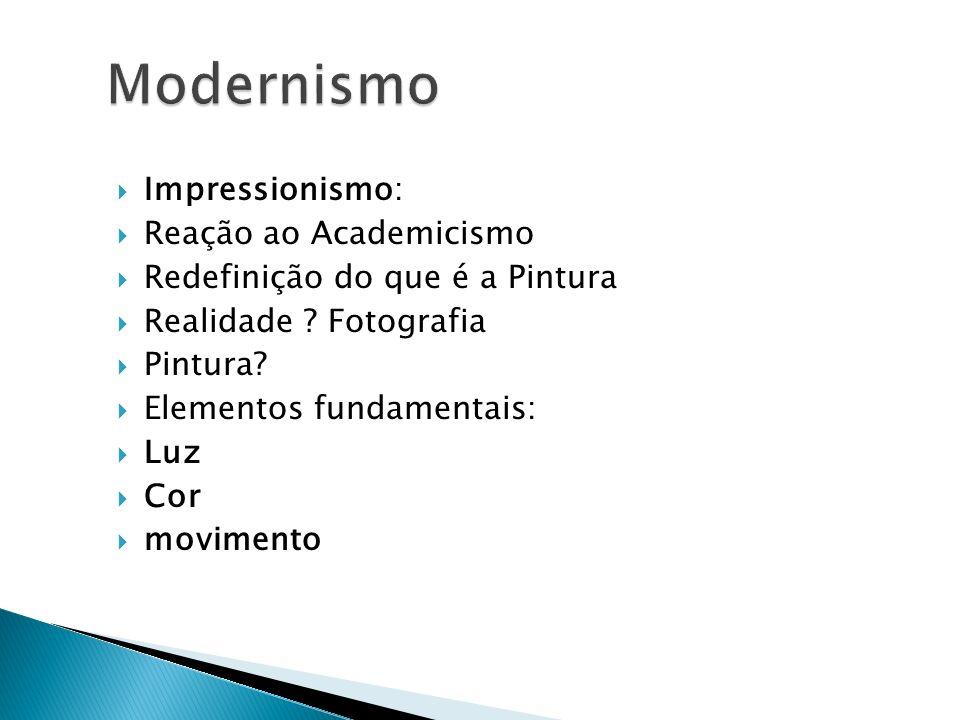 Modernismo Impressionismo: Reação ao Academicismo