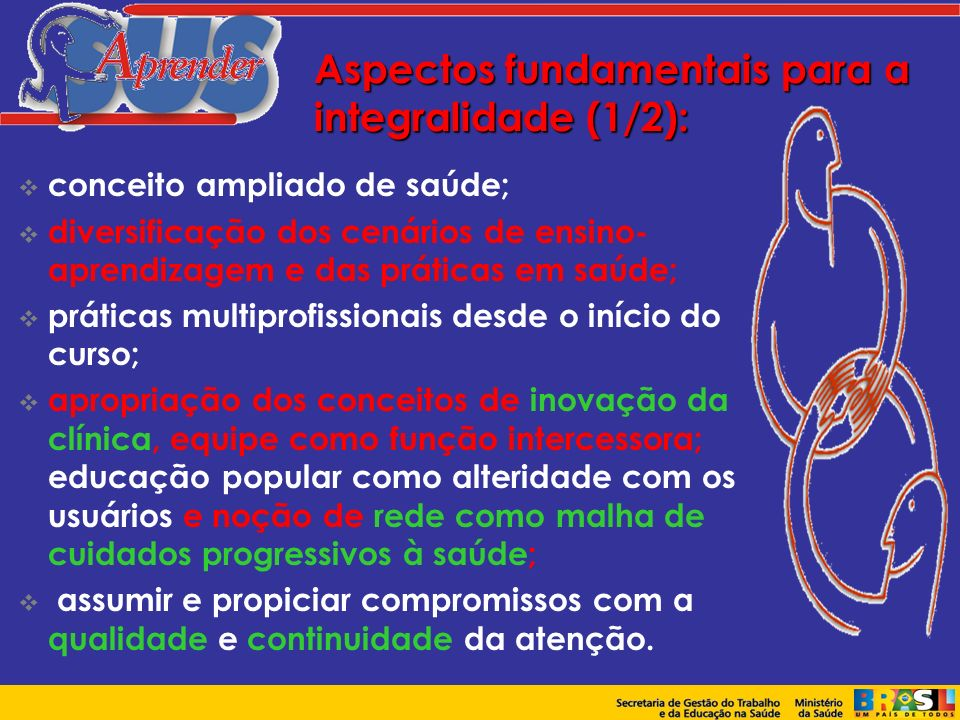 Aspectos fundamentais para a integralidade (1/2):