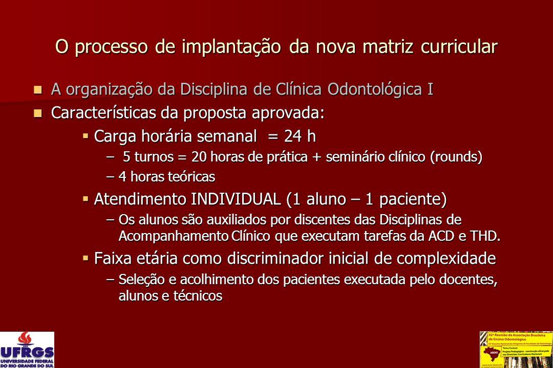 O processo de implantação da nova matriz curricular