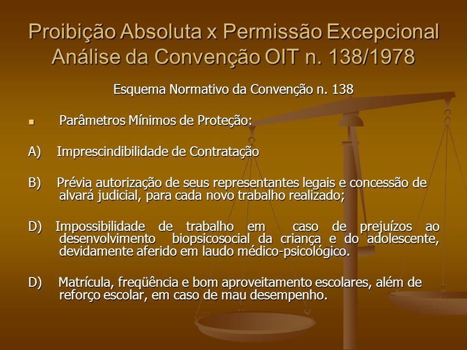 Esquema Normativo da Convenção n. 138