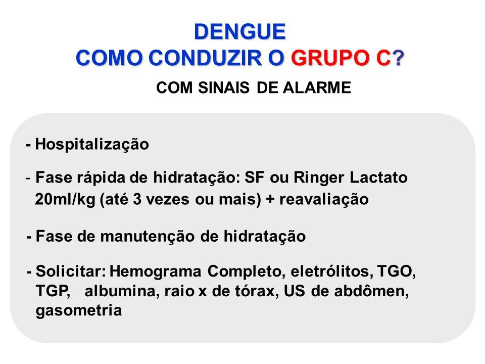 DENGUE COMO CONDUZIR O GRUPO C