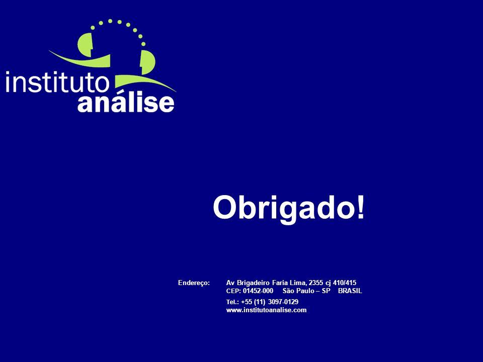 Obrigado! Endereço: Av Brigadeiro Faria Lima, 2355 cj 410/415