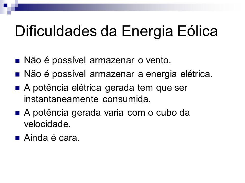 Dificuldades da Energia Eólica