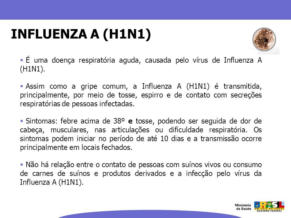 INFLUENZA A (H1N1)É uma doença respiratória aguda, causada pelo vírus de Influenza A (H1N1).