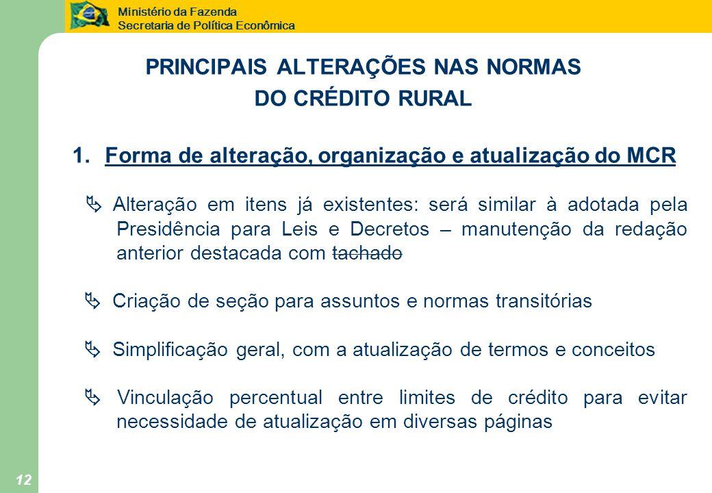 PRINCIPAIS ALTERAÇÕES NAS NORMAS