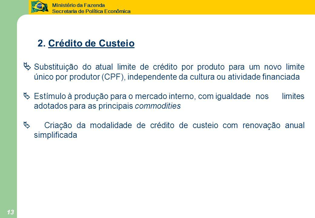 2. Crédito de Custeio