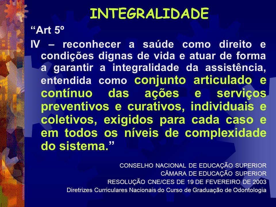 INTEGRALIDADE Art 5º.