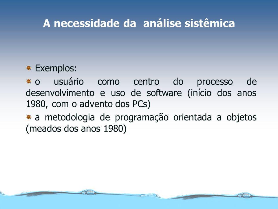 A necessidade da análise sistêmica