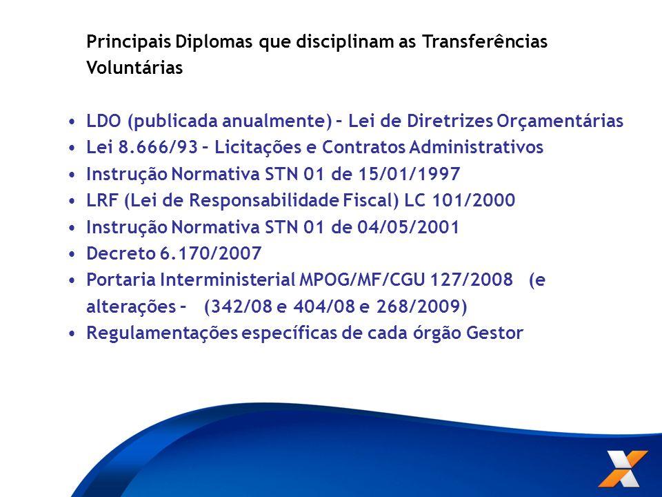 LDO (publicada anualmente) – Lei de Diretrizes Orçamentárias
