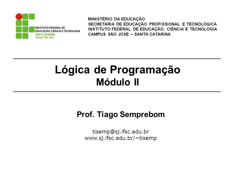 Lógica de Programação Módulo II