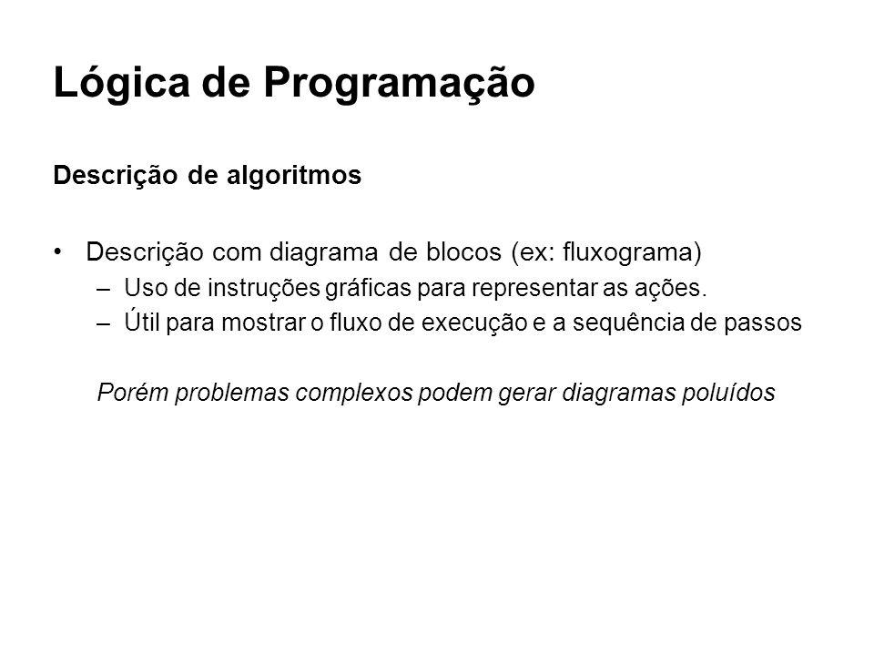Lógica de Programação Descrição de algoritmos