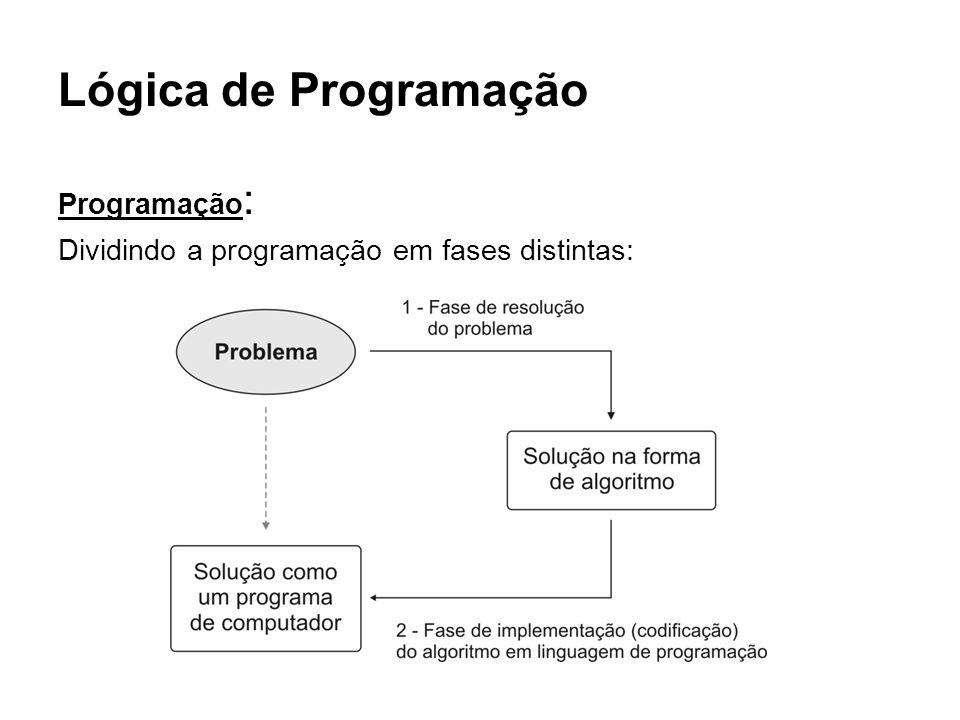 Lógica de Programação Programação: