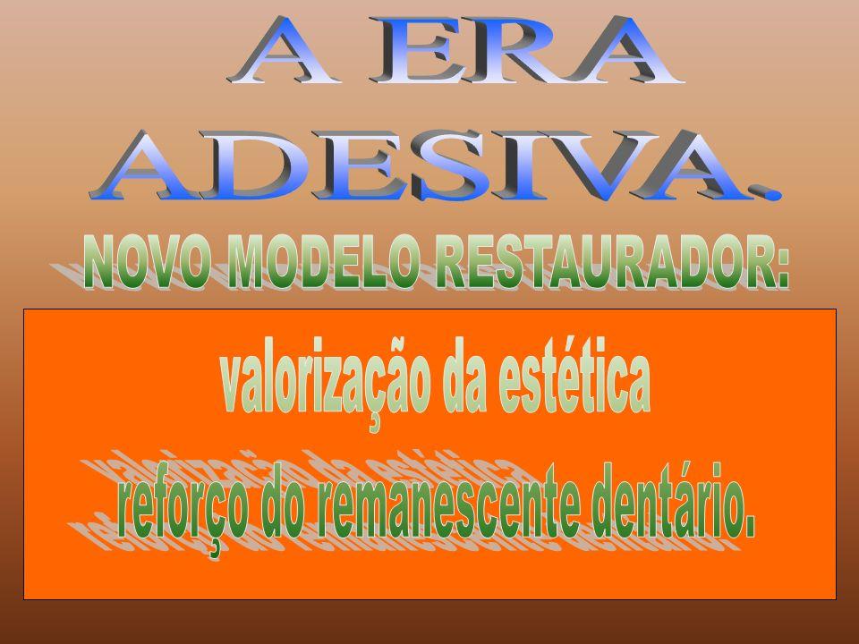 A ERA ADESIVA. NOVO MODELO RESTAURADOR: valorização da estética