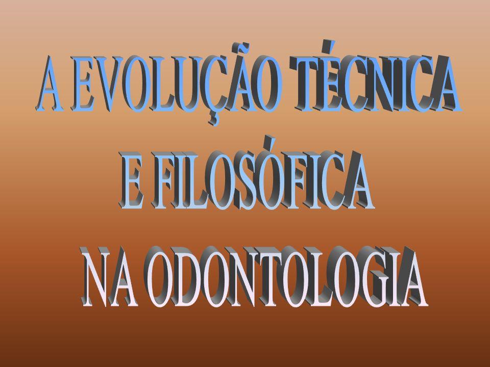 A EVOLUÇÃO TÉCNICA E FILOSÓFICA NA ODONTOLOGIA