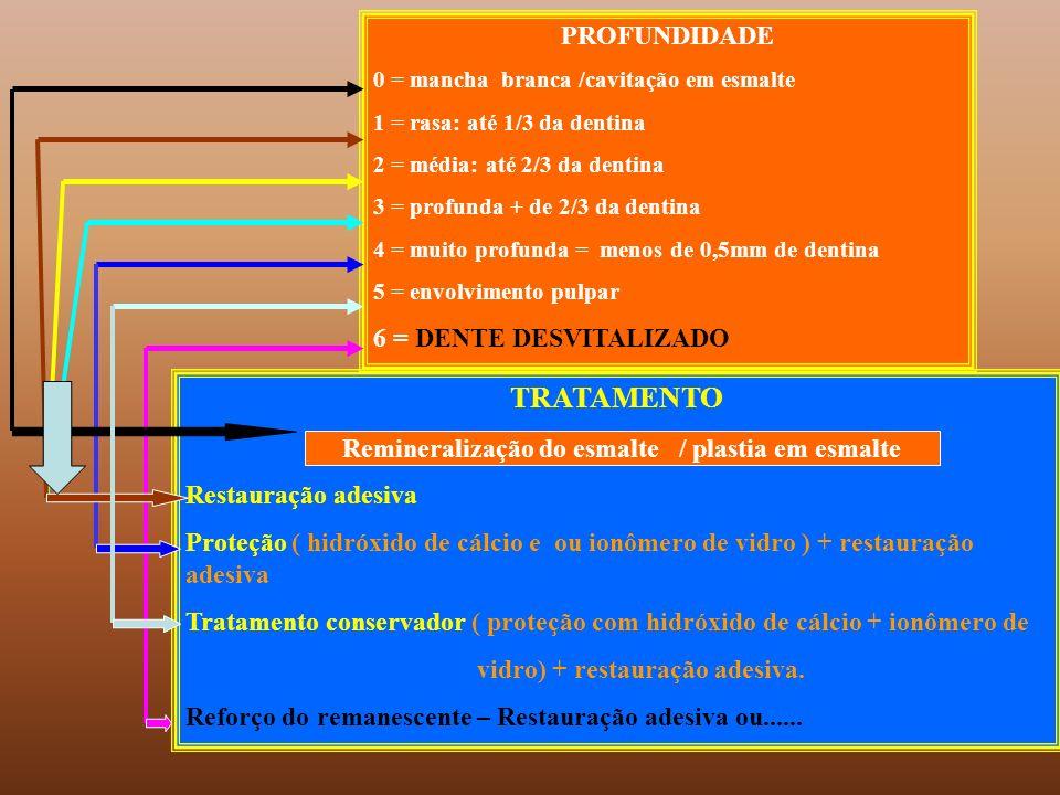 TRATAMENTO PROFUNDIDADE 6 = DENTE DESVITALIZADO