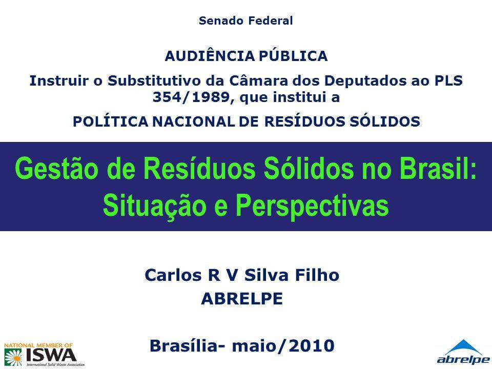 Gestão de Resíduos Sólidos no Brasil: Situação e Perspectivas
