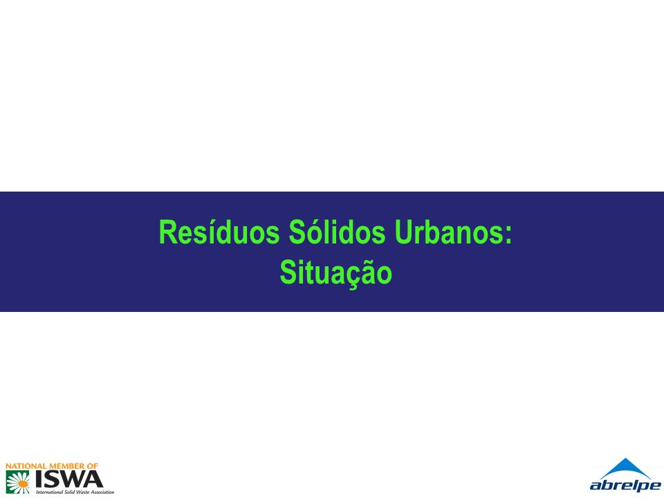 Resíduos Sólidos Urbanos:
