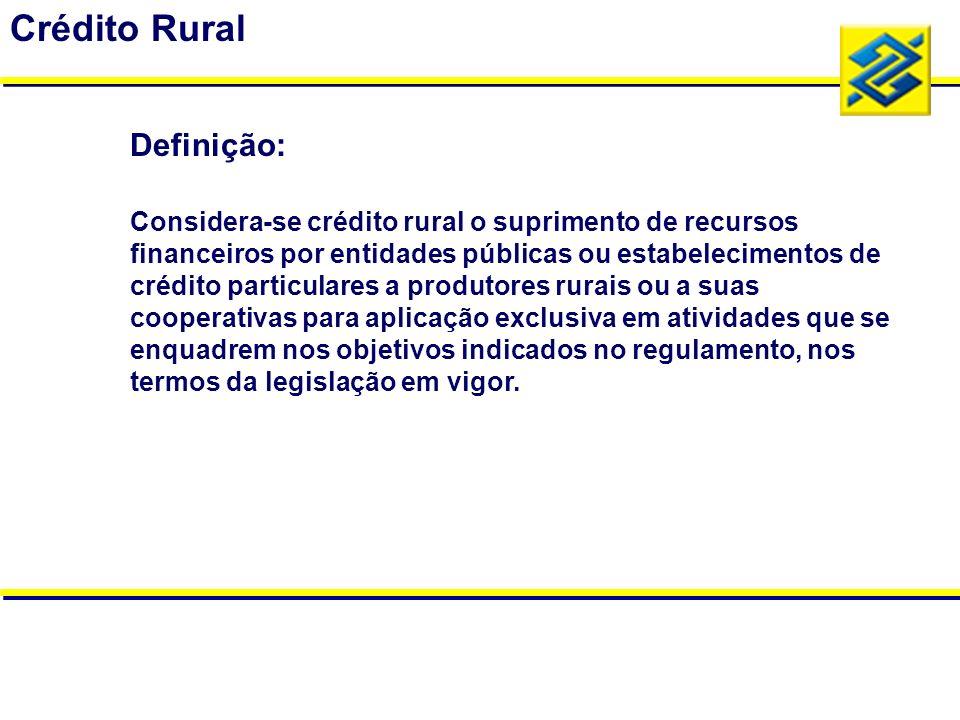 Crédito Rural Definição: