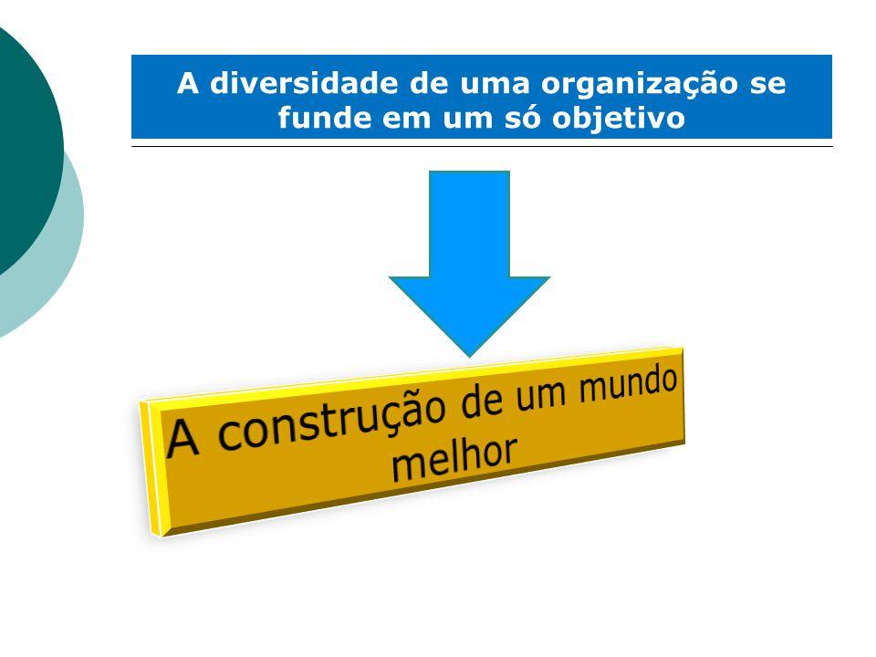 A diversidade de uma organização se funde em um só objetivo