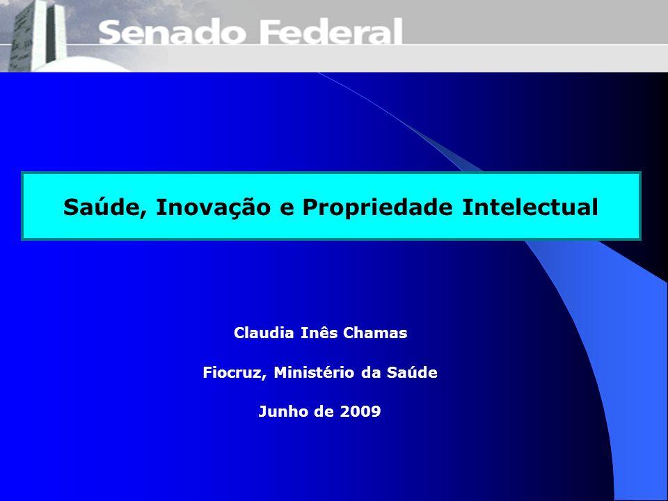 Saúde, Inovação e Propriedade Intelectual Fiocruz, Ministério da Saúde