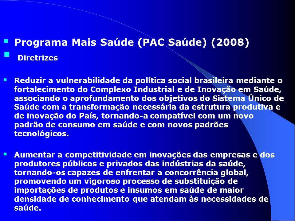 Diretrizes Programa Mais Saúde (PAC Saúde) (2008)