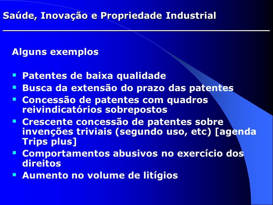 Saúde, Inovação e Propriedade Industrial _________________________________________