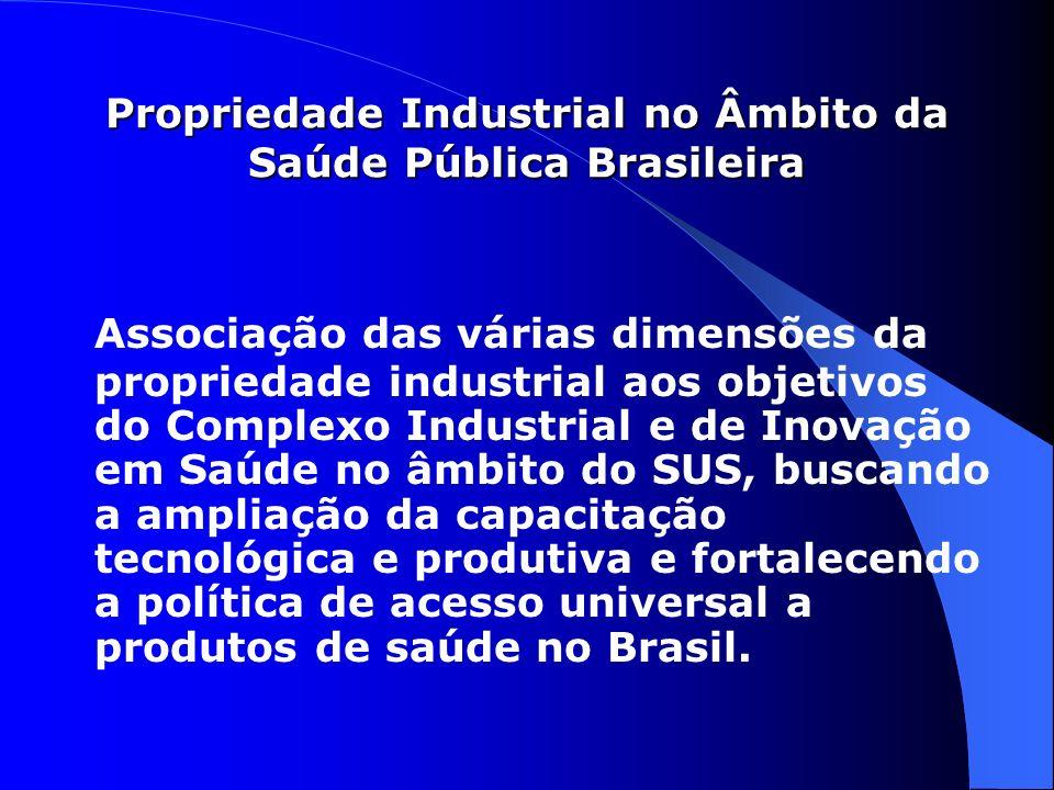 Propriedade Industrial no Âmbito da Saúde Pública Brasileira
