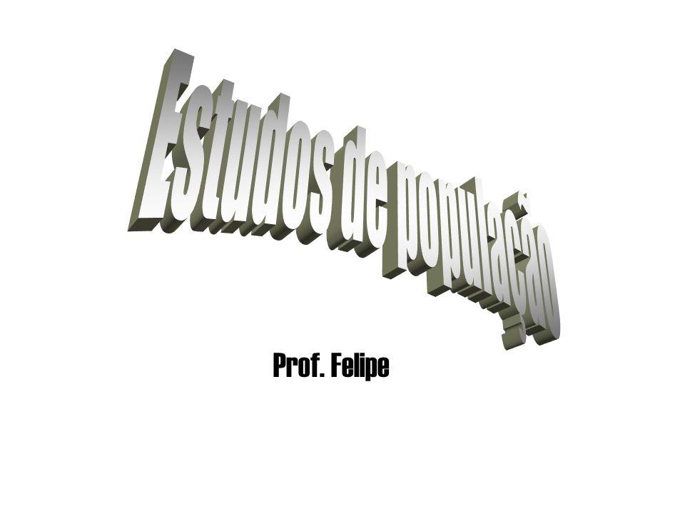 Estudos de população Prof. Felipe