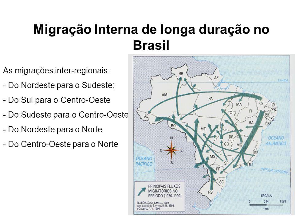 Migração Interna de longa duração no Brasil