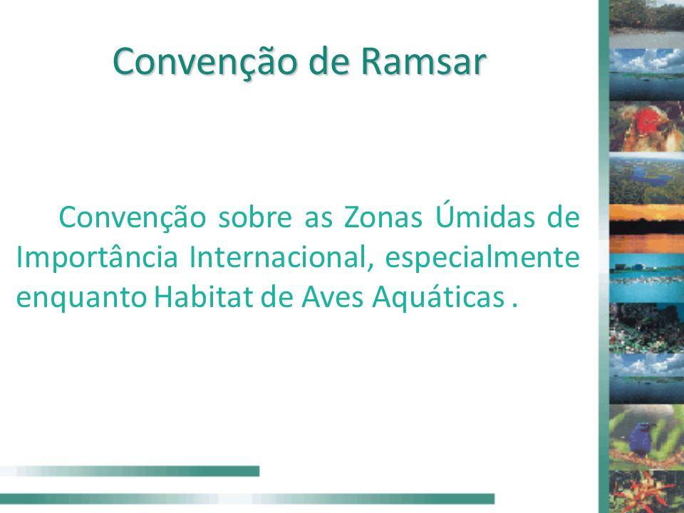 Convenção de Ramsar Convenção sobre as Zonas Úmidas de Importância Internacional, especialmente enquanto Habitat de Aves Aquáticas .