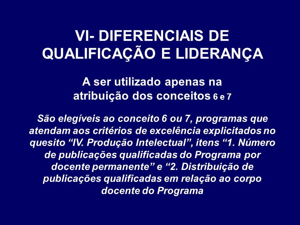 VI- DIFERENCIAIS DE QUALIFICAÇÃO E LIDERANÇA