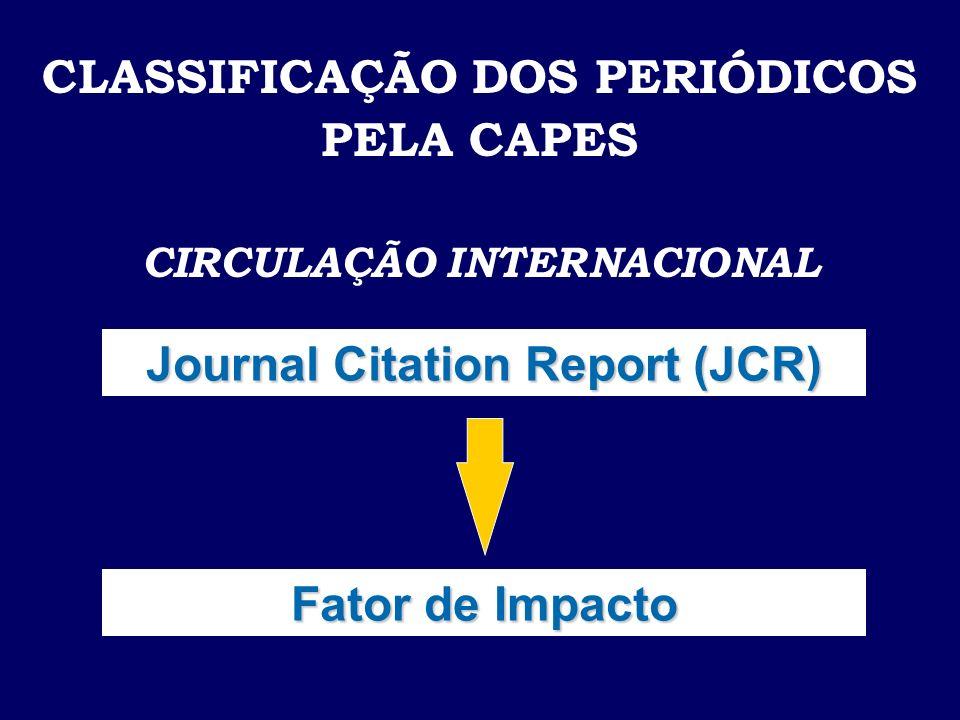 CLASSIFICAÇÃO DOS PERIÓDICOS PELA CAPES