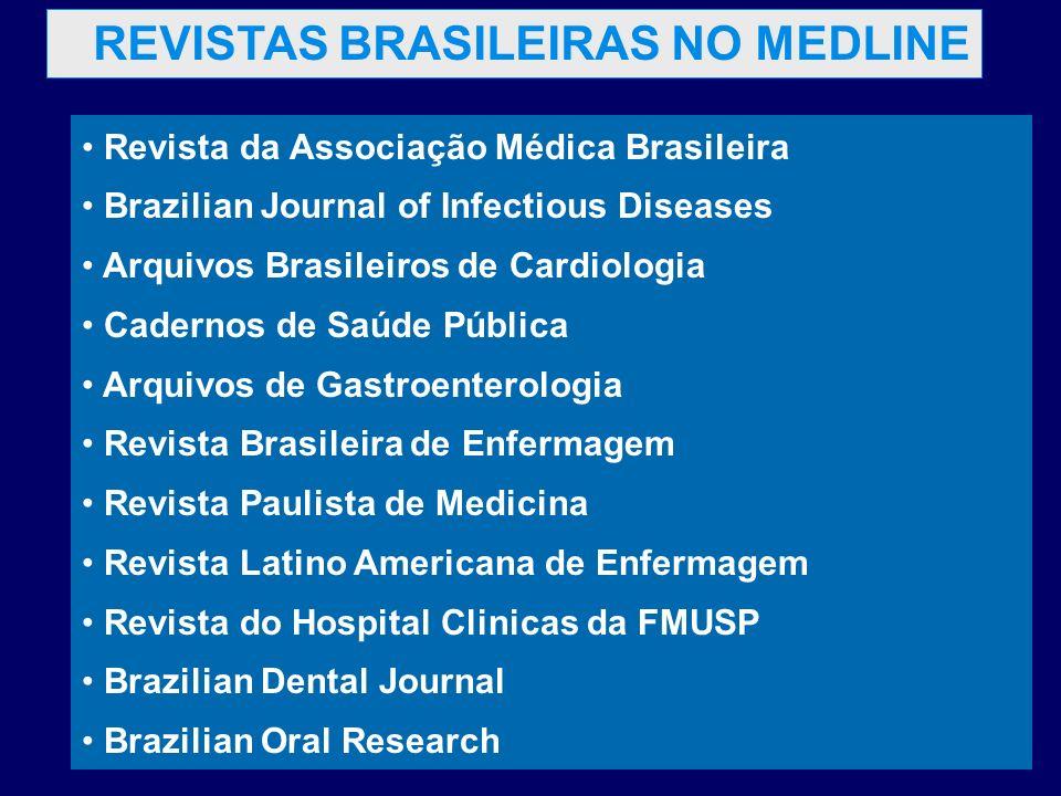 REVISTAS BRASILEIRAS NO MEDLINE